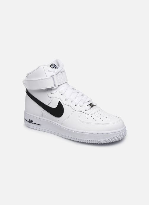Baskets Nike Air Force 1 High '07 An20 Blanc vue détail/paire