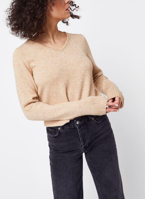 Vêtements Vila KNIT TOP VIRIL Marron vue détail/paire