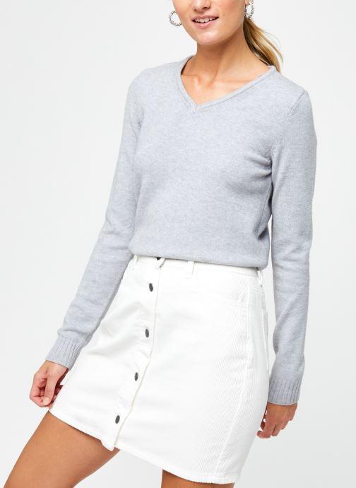 Vêtements Vila KNIT TOP VIRIL Gris vue détail/paire