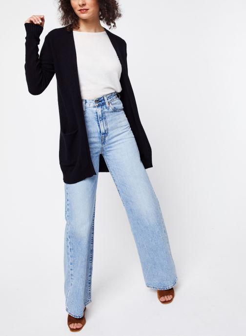 Vêtements Vila KNIT CARDIGAN VIRIL Noir vue bas / vue portée sac