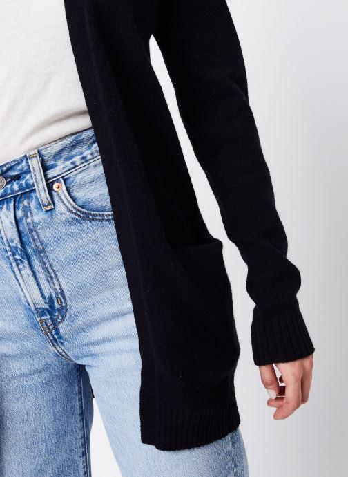 Vêtements Vila KNIT CARDIGAN VIRIL Noir vue face