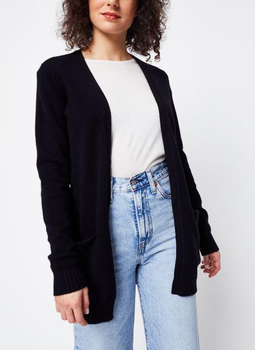 Vêtements Vila KNIT CARDIGAN VIRIL Noir vue droite