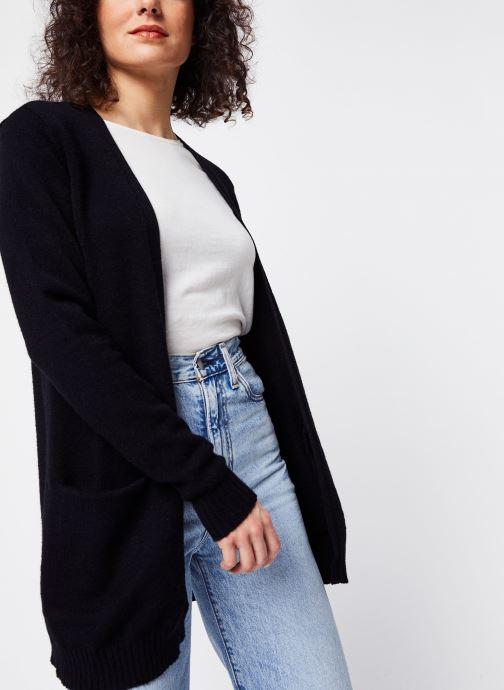 Vêtements Vila KNIT CARDIGAN VIRIL Noir vue détail/paire