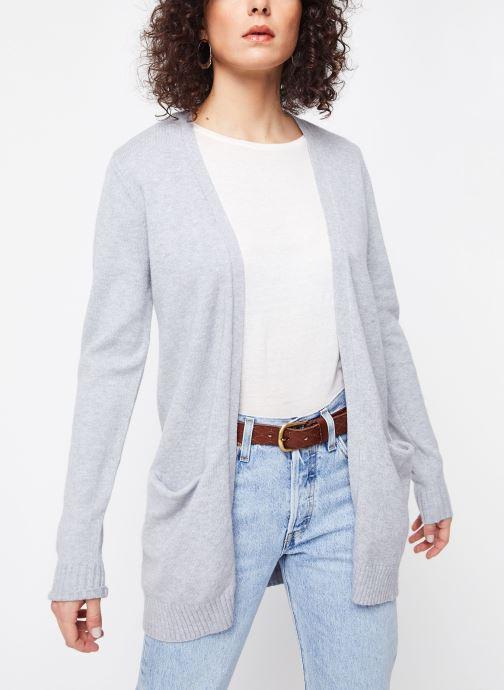 Vêtements Vila KNIT CARDIGAN VIRIL Gris vue détail/paire