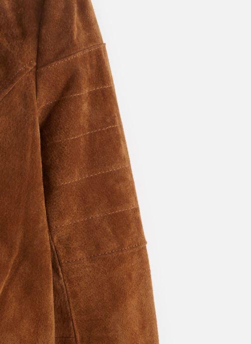 Vêtements Vila Leather Jacket VICRIS Marron vue portées chaussures