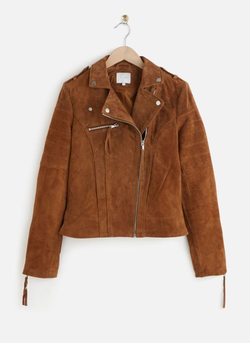 Kleding Vila Leather Jacket VICRIS Bruin detail
