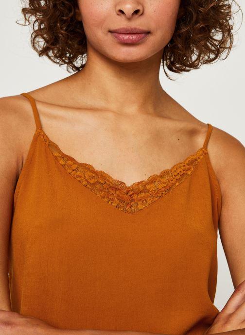 Vêtements Vila LACE TOP VIMERO Orange vue face