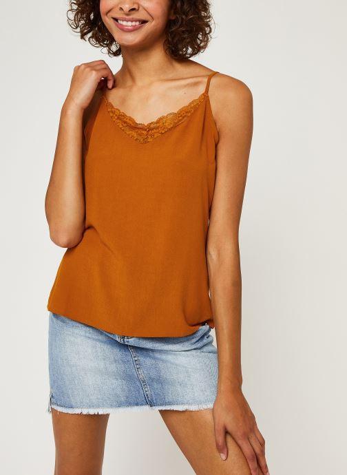 Vêtements Vila LACE TOP VIMERO Orange vue droite