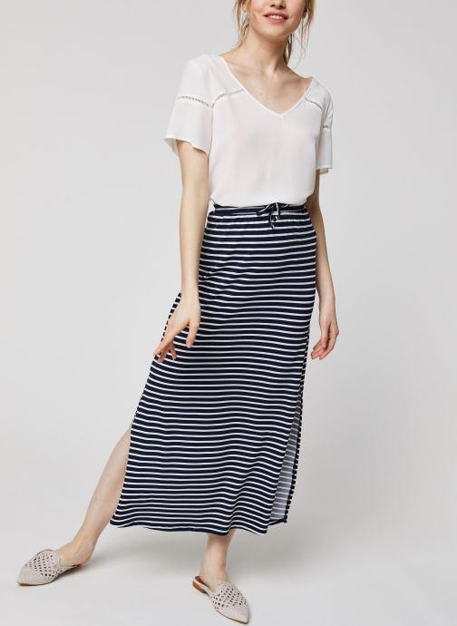 Vêtements Vila Long Skirts VIDELL Bleu vue bas / vue portée sac