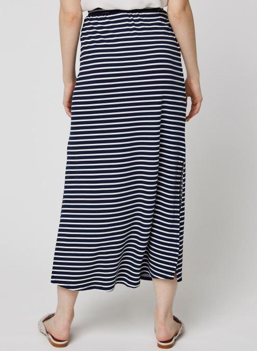 Vêtements Vila Long Skirts VIDELL Bleu vue portées chaussures