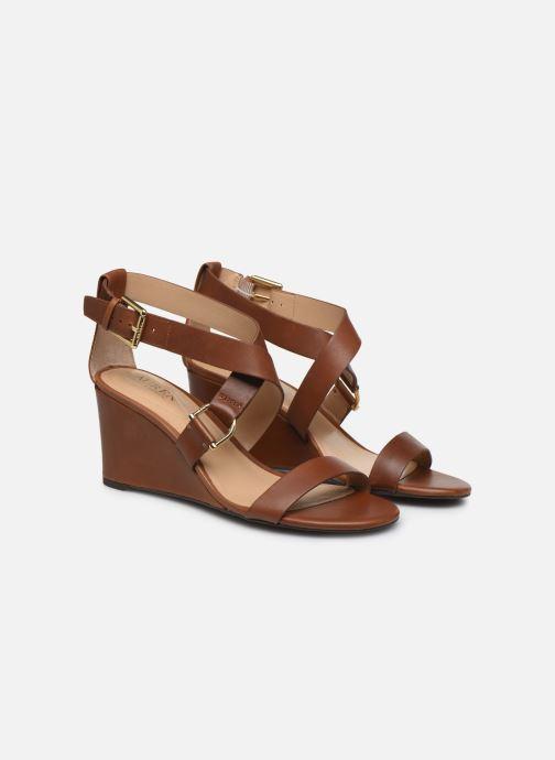 Sandales et nu-pieds Lauren Ralph Lauren Chadwell Sandals Marron vue portées chaussures