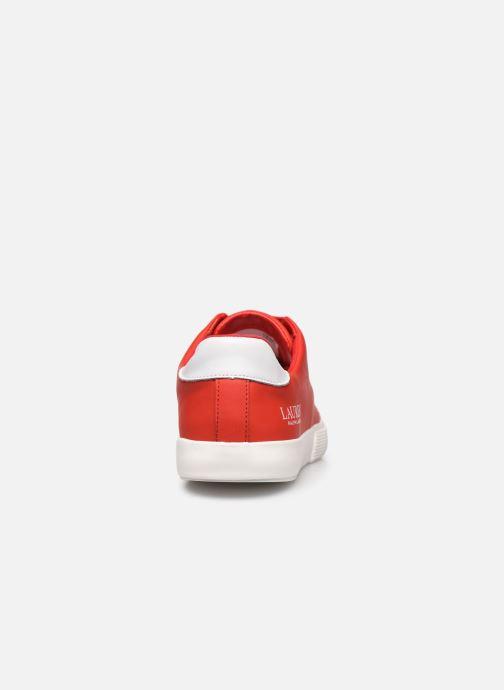 Deportivas Lauren Ralph Lauren Joana Sneakers Rojo vista lateral derecha
