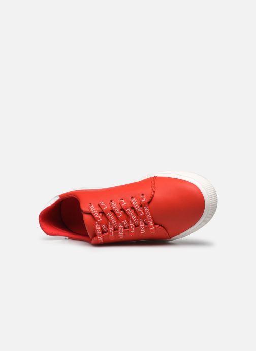 Deportivas Lauren Ralph Lauren Joana Sneakers Rojo vista lateral izquierda