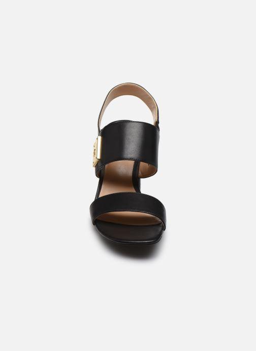 Sandales et nu-pieds Lauren Ralph Lauren Braidan Noir vue portées chaussures