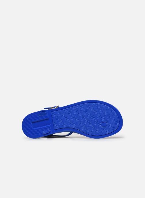 Sandales et nu-pieds Lauren Ralph Lauren Ashtyn Bleu vue haut
