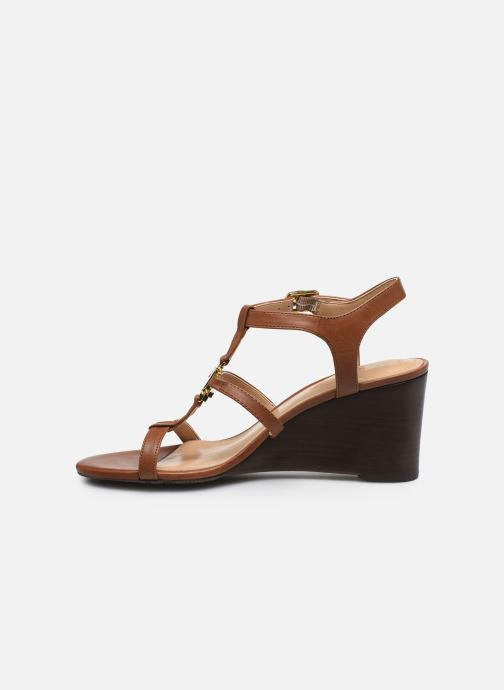 Sandali e scarpe aperte Lauren Ralph Lauren Charlton Marrone immagine frontale