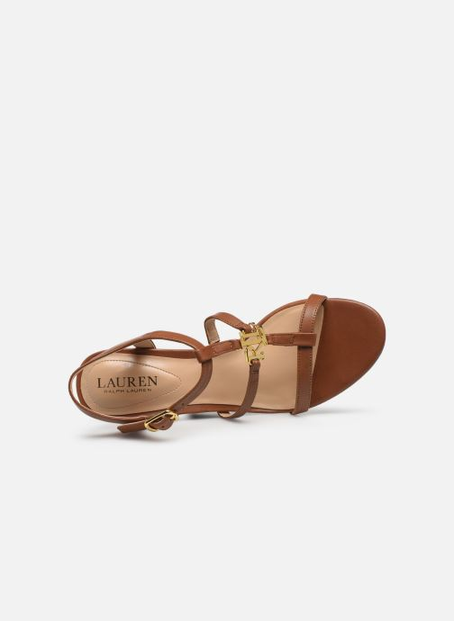 Sandali e scarpe aperte Lauren Ralph Lauren Charlton Marrone immagine sinistra