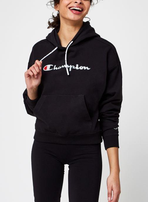 Kleding Accessoires Champion Large Script Logo Hooded Sweatshirt W