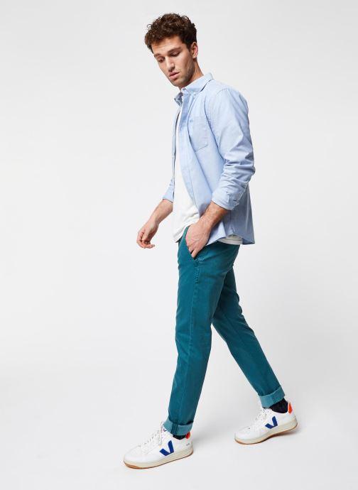 Vêtements Dockers Stretch Oxford Shirt Bleu vue bas / vue portée sac