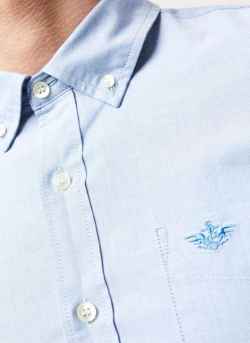 Vêtements Dockers Stretch Oxford Shirt Bleu vue face