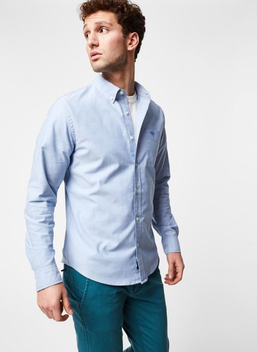 Vêtements Dockers Stretch Oxford Shirt Bleu vue droite