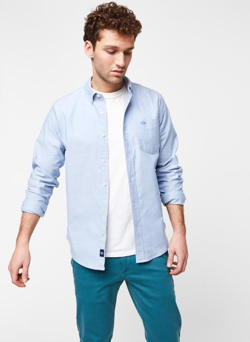 Vêtements Dockers Stretch Oxford Shirt Bleu vue détail/paire