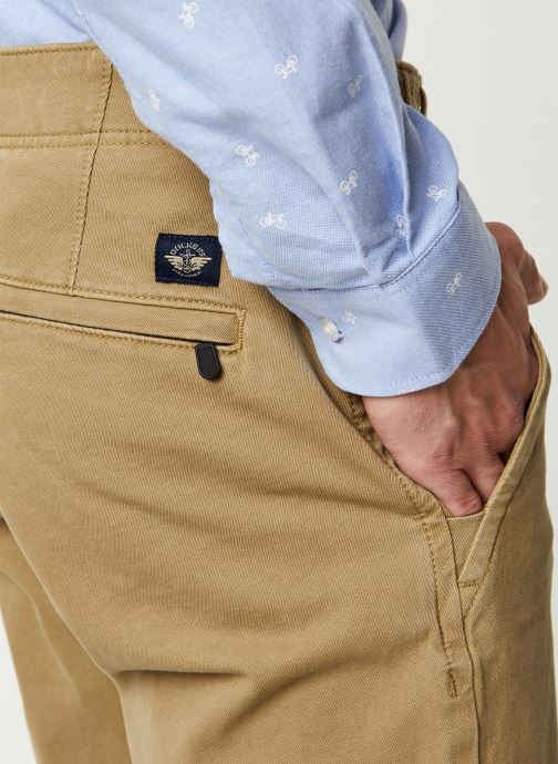 Vêtements Dockers Smart 360 Flex Alpha Slim Beige vue face
