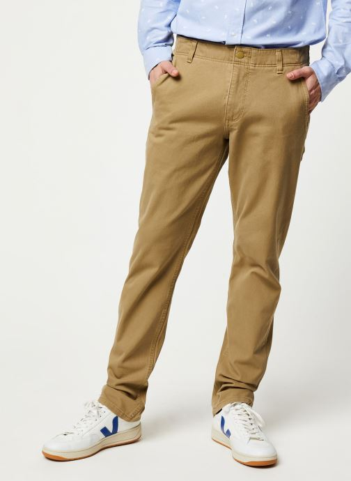Vêtements Dockers Smart 360 Flex Alpha Slim Beige vue détail/paire