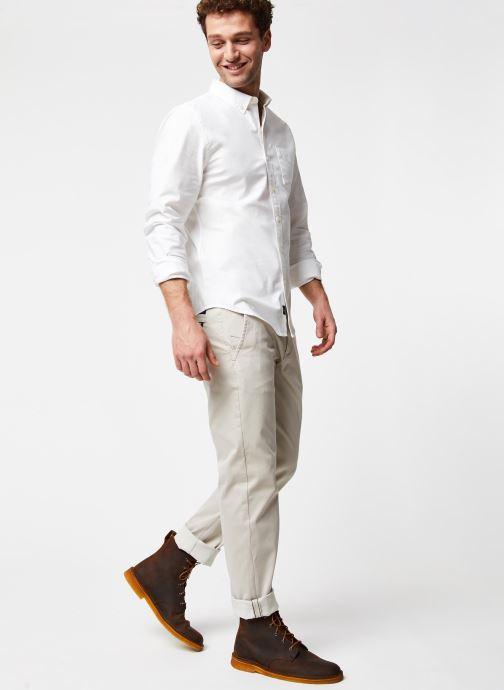 Vêtements Dockers Smart 360 Flex Alpha Slim Beige vue bas / vue portée sac