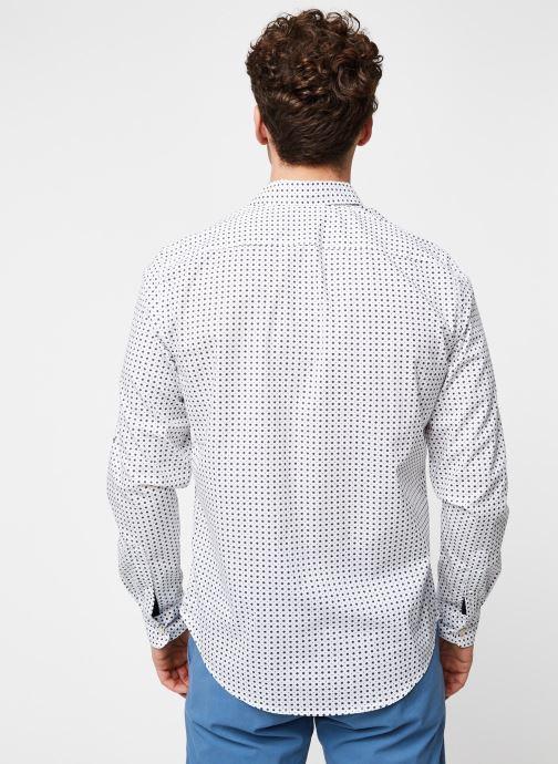 Vêtements Dockers Sf Alpha Icon Shirt Blanc vue portées chaussures