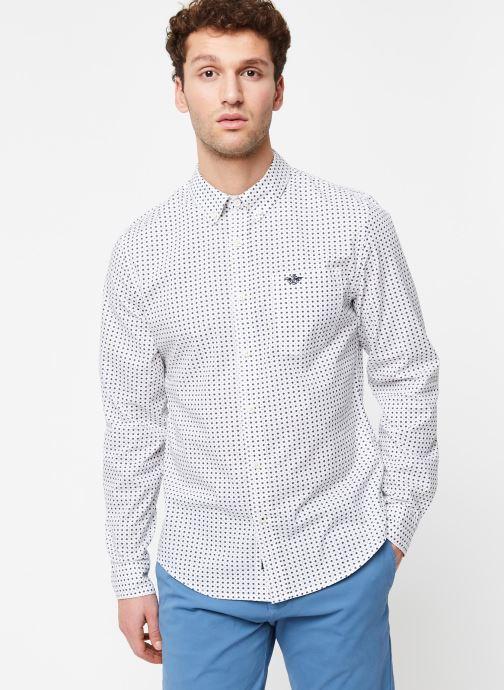Vêtements Dockers Sf Alpha Icon Shirt Blanc vue droite