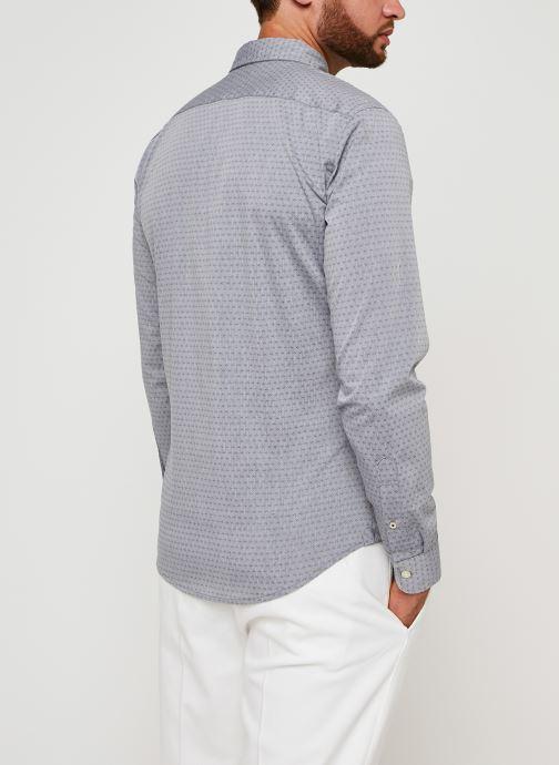 Vêtements Dockers Sf Alpha Icon Shirt Gris vue portées chaussures