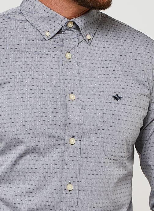 Vêtements Dockers Sf Alpha Icon Shirt Gris vue face