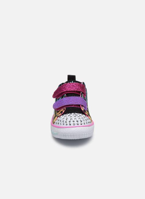 Baskets Skechers Shuffle Lite Leopard Cutie Multicolore vue portées chaussures