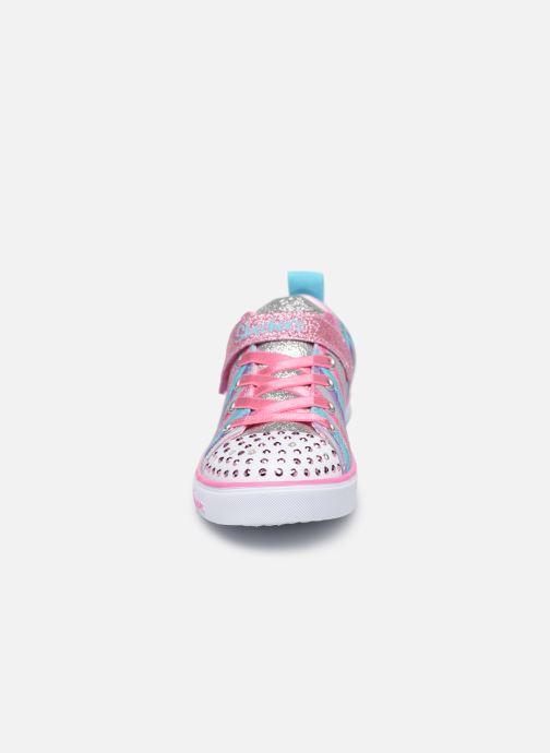 Baskets Skechers Sparkle Lite Magical Rainbows Multicolore vue portées chaussures