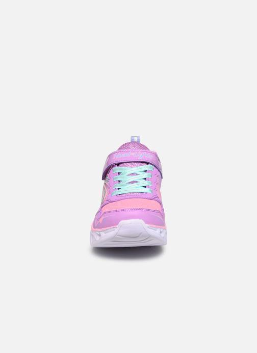 Baskets Skechers Heart Lights Love Spark Lvmt Multicolore vue portées chaussures