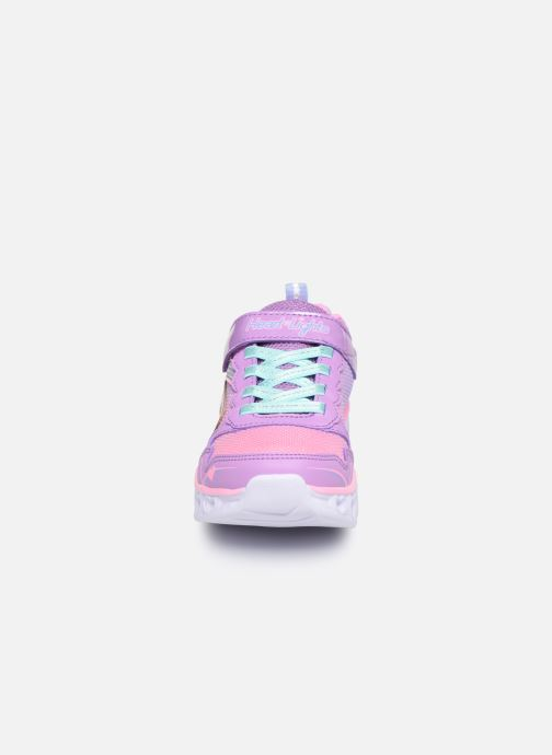 Sneaker Skechers Heart Lights Love Spark Lvmt mehrfarbig schuhe getragen
