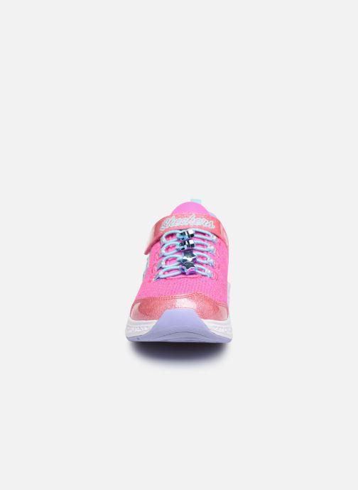 Baskets Skechers Star Speeder Rose vue portées chaussures