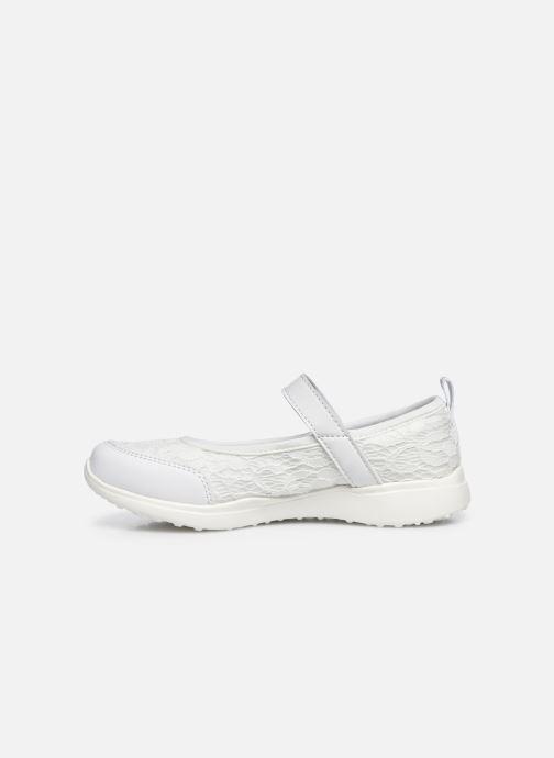 Sandalias Skechers Microstrides Blanco vista de frente