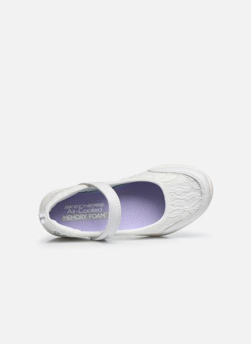 Sandalias Skechers Microstrides Blanco vista lateral izquierda