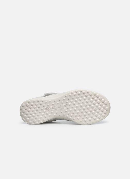 Sandalias Skechers Microstrides Blanco vista de arriba