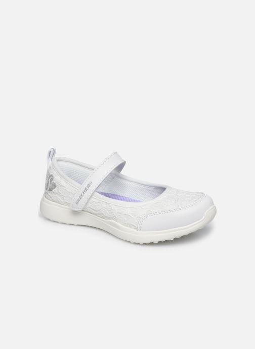 Sandalias Skechers Microstrides Blanco vista de detalle / par