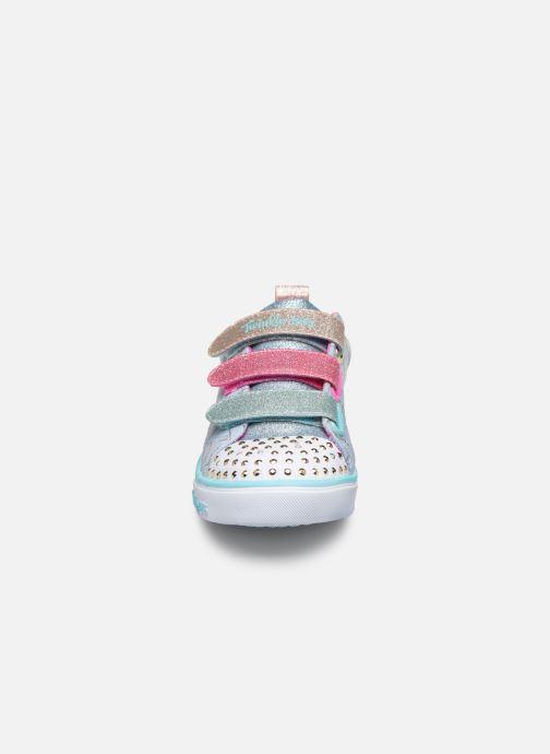 Baskets Skechers Sparkle Lite Lbmt Multicolore vue portées chaussures