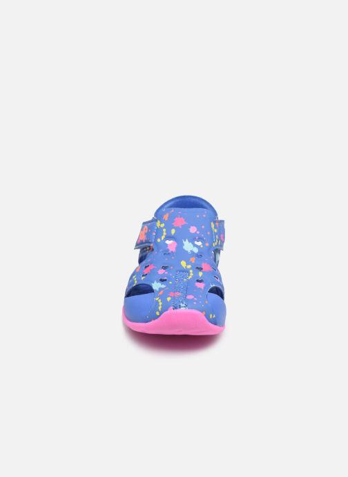 Sandales et nu-pieds Skechers Side Wave Multicolore vue portées chaussures