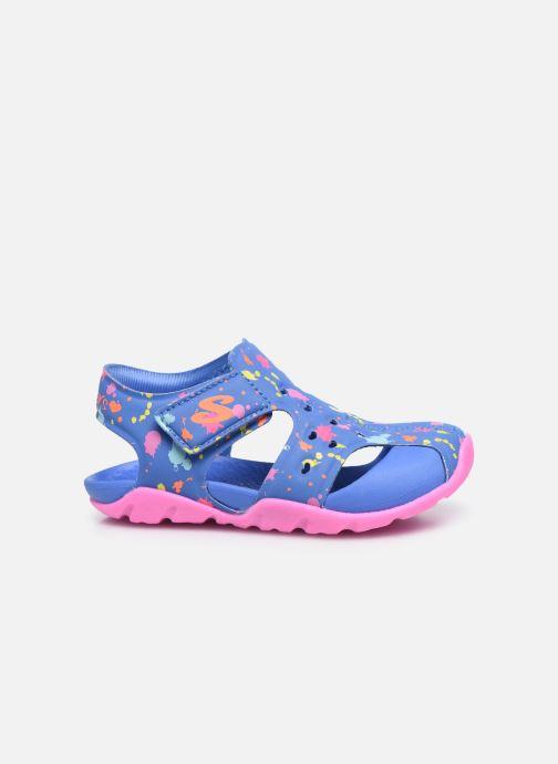 Sandales et nu-pieds Skechers Side Wave Multicolore vue derrière