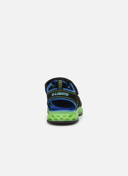 Sandalias Skechers Flex-Flow Azul vista lateral derecha