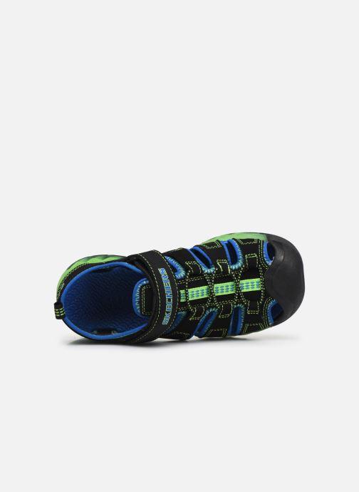Sandalias Skechers Flex-Flow Azul vista lateral izquierda