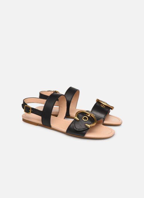Sandales et nu-pieds Coach Jen Buckle Sandal Noir vue 3/4