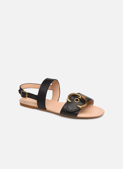 Sandales et nu-pieds Coach Jen Buckle Sandal Noir vue détail/paire