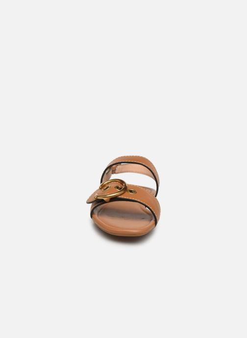 Sandales et nu-pieds Coach Jen Buckle Sandal Marron vue portées chaussures